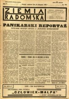 Ziemia Radomska, 1932, R. 5, nr 270