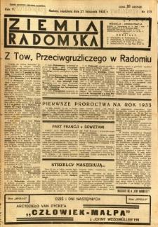 Ziemia Radomska, 1932, R. 5, nr 273