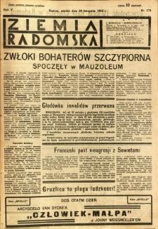 Ziemia Radomska, 1932, R. 5, nr 274