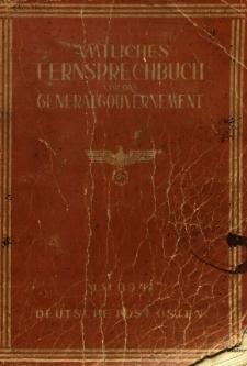 Amtliches Fernsprechbuch fűr das Generalgouvernement = Urzędowa Książka Telefoniczna dla Generalnego Gubernatorstwa