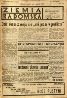 Ziemia Radomska, 1932, R. 5, nr 276
