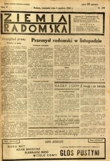 Ziemia Radomska, 1932, R. 5, nr 279