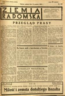 Ziemia Radomska, 1932, R. 5, nr 283