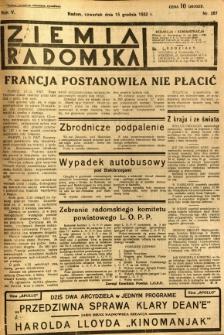 Ziemia Radomska, 1932, R. 5, nr 287