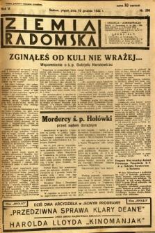 Ziemia Radomska, 1932, R. 5, nr 288