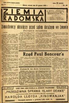 Ziemia Radomska, 1932, R. 5, nr 291