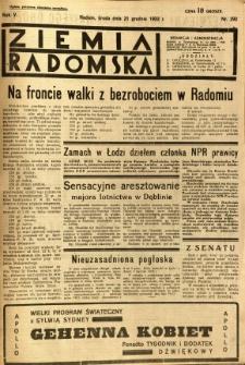Ziemia Radomska, 1932, R. 5, nr 292