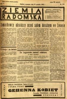 Ziemia Radomska, 1932, R. 5, nr 293
