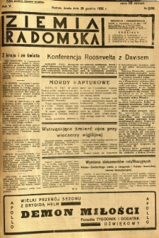 Ziemia Radomska, 1932, R. 5, nr 296