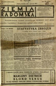 Ziemia Radomska, 1933, R. 6, nr 1