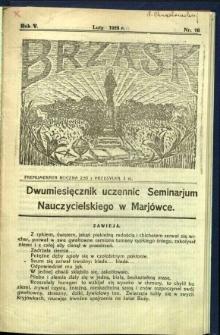 Brzask: Dwumiesięcznik uczennic Seminarium Nauczycielskiego w Mariówce, 1928, R. 5, nr 16
