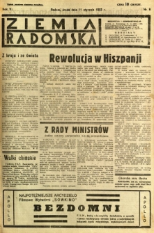 Ziemia Radomska, 1933, R. 6, nr 8