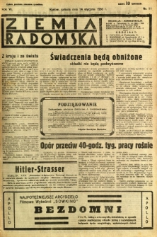 Ziemia Radomska, 1933, R. 6, nr 11