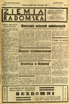 Ziemia Radomska, 1933, R. 6, nr 12