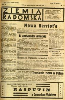 Ziemia Radomska, 1933, R. 6, nr 17