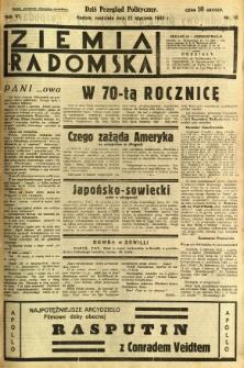 Ziemia Radomska, 1933, R. 6, nr 18