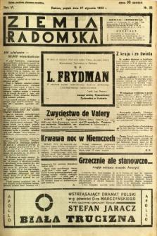 Ziemia Radomska, 1933, R. 6, nr 22
