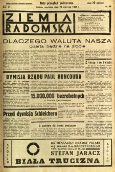 Ziemia Radomska, 1933, R. 6, nr 24