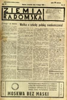 Ziemia Radomska, 1933, R. 6, nr 27