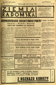 Ziemia Radomska, 1933, R. 6, nr 33