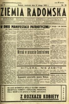 Ziemia Radomska, 1933, R. 6, nr 35