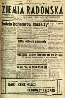 Ziemia Radomska, 1933, R. 6, nr 38