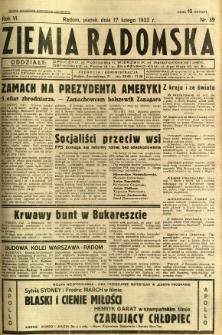 Ziemia Radomska, 1933, R. 6, nr 39