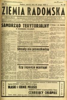 Ziemia Radomska, 1933, R. 6, nr 40