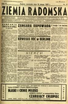 Ziemia Radomska, 1933, R. 6, nr 41