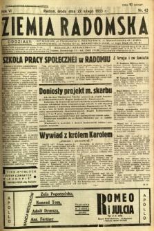 Ziemia Radomska, 1933, R. 6, nr 43