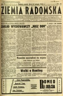 Ziemia Radomska, 1933, R. 6, nr 45