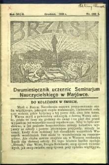 Brzask: Dwumiesięcznik uczennic Seminarium Nauczycielskiego w Mariówce, 1928, R. (6) 2, nr (20) 4