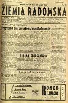 Ziemia Radomska, 1933, R. 6, nr 48