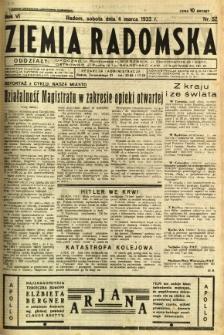 Ziemia Radomska, 1933, R. 6, nr 52