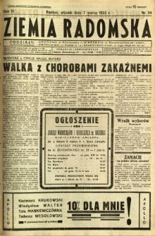 Ziemia Radomska, 1933, R. 6, nr 54