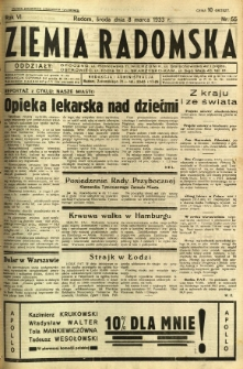 Ziemia Radomska, 1933, R. 6, nr 55