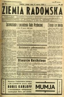 Ziemia Radomska, 1933, R. 6, nr 63