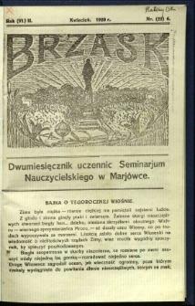Brzask: Dwumiesięcznik uczennic Seminarium Nauczycielskiego w Mariówce, 1929, R. (6) 2, nr (22) 6