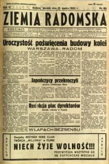 Ziemia Radomska, 1933, R. 6, nr 66