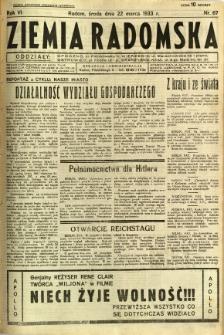 Ziemia Radomska, 1933, R. 6, nr 67