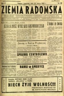 Ziemia Radomska, 1933, R. 6, nr 68