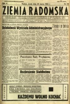 Ziemia Radomska, 1933, R. 6, nr 73
