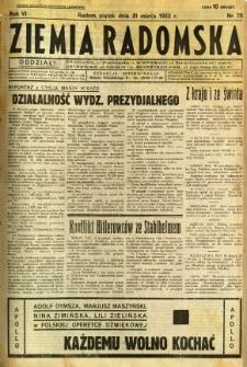 Ziemia Radomska, 1933, R. 6, nr 75