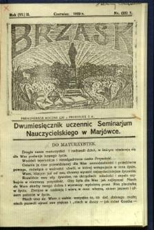 Brzask: Dwumiesięcznik uczennic Seminarium Nauczycielskiego w Mariówce, 1929, R. (6) 2, nr (23) 7