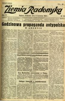 Ziemia Radomska, 1933, R. 6, nr 83