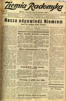 Ziemia Radomska, 1933, R. 6, nr 86