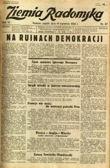 Ziemia Radomska, 1933, R. 6, nr 87