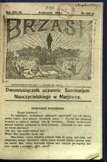 Brzask: Dwumiesięcznik uczennic Seminarium Nauczycielskiego w Mariówce, 1929, R. (7) 3, nr (24) 8
