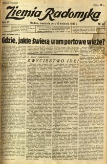 Ziemia Radomska, 1933, R. 6, nr 88