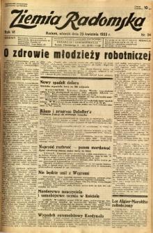 Ziemia Radomska, 1933, R. 6, nr 94